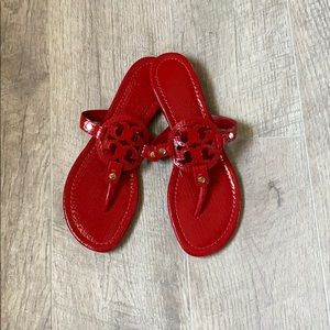 Tory Burch Miller Paten Leather Red Sandal